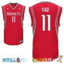 Maillot NBA Houston Rockets NO.11 Yao Ming Rouge Pas Cher