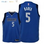 Maillot NBA Enfant Dallas Mavericks NO.5 J.J. Barea Bleu Icon 2018 Pas Cher