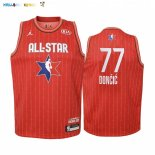 Maillot NBA Enfant 2020 All Star NO.77 Luka Doncic Rouge