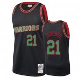 Maillot NBA Golden State Warriors 2018 Noël NO.21 Jonas Jerebko Noir Pas Cher