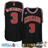 Maillot NBA Chicago Bulls NO.3 Doug McDermott Noir Pas Cher