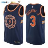 Maillot NBA New York Knicks NO.3 Tim Hardaway Jr Nike Bleu Ville 2017-2018 Pas Cher