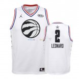 Maillot NBA Enfant 2019 All Star NO.2 Kawhi Leonard Blanc Pas Cher