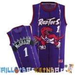 Maillot NBA Toronto Raptors NO.1 Tracy McGrady Retro Pourpre Pas Cher