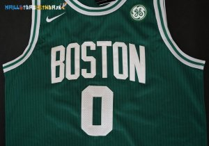 Maillot NBA Boston Celtics NO.0 Jayson Tatum Vert 2017-2018 Pas Cher