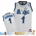 Maillot NBA Orlando Magic NO.1 Anfernee Hardaway Blanc Pas Cher