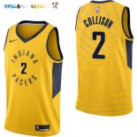 Maillot NBA Indiana Pacers NO.2 Darren Collison Jaune Statement 2017-2018 Pas Cher