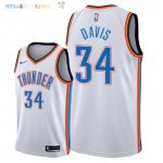 Maillot NBA Oklahoma City Thunder NO.34 Tyler Davis Blanc Association 2018 Pas Cher