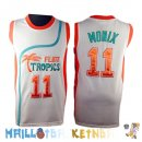 Maillot NBA Film Basket-Ball Flint Hill NO.11 Monix Blanc Pas Cher