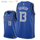 Maillot NBA Dallas Mavericks NO.13 Jalen Brunson Bleu Icon 2018 Pas Cher