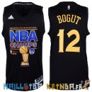 Maillot NBA Golden State Warriors 2015 Finales Champions NO.12 Bogut Noir Pas Cher