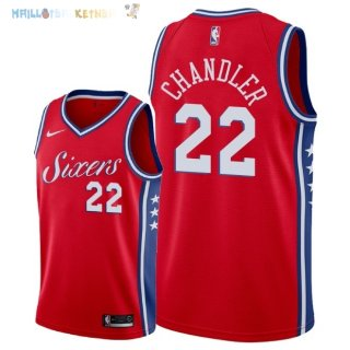 Maillot NBA Philadelphia Sixers NO.22 Wilson Chandler Rouge Statement 2018 Pas Cher