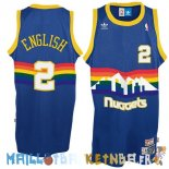 Maillot NBA Denver Nuggets NO.2 Alex English Bleu Pas Cher