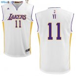 Maillot NBA Los Angeles Lakers NO.11 Yi Blanc Pas Cher