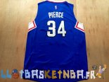 Maillot NBA L.A.Clippers NO.34 Paul Pierce Bleu Pas Cher