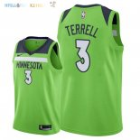 Maillot NBA Minnesota Timberwolves NO.3 Jared Terrell Vert Statement 2018 Pas Cher