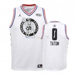 Maillot NBA Enfant 2019 All Star NO.0 Jayson Tatum Blanc Pas Cher