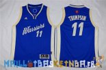 Maillot NBA Enfants 2015 Noël Golden State Warriors NO.11 Klay Thompson Bleu Pas Cher