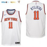 Maillot NBA Enfant New York Knicks NO.11 Frank Ntilikina Blanc Association Pas Cher
