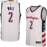Maillot NBA Washington Wizards NO.2 John Wall Blanc 2016-2017 Pas Cher