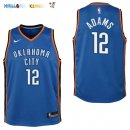 Maillot NBA Enfant Oklahoma City Thunder NO.12 Steven Adams Bleu Icon Pas Cher