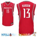 Maillot NBA Houston Rockets NO.13 James Harden Rouge Pas Cher