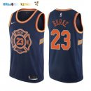 Maillot NBA New York Knicks NO.23 Trey Burke Nike Bleu Ville 2017-2018 Pas Cher
