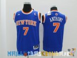 Maillot NBA Enfants New York Knicks NO.7 Carmelo Anthony Bleu Pas Cher