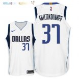 Maillot NBA Dallas Mavericks NO.37 Kostas Antetokounmpo Blanc Association 2018 Pas Cher
