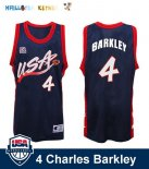 Maillot NBA 1996 USA Charles Barkley NO.4 Noir Pas Cher