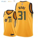 Maillot NBA Utah Jazz NO.31 Georges Niang Jaune Statement 2018 Pas Cher