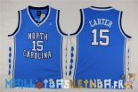Maillot NCAA Enfants North Carolina NO.15 Vince Carter Bleu Pas Cher