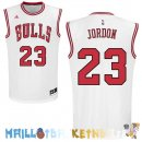 Maillot NBA Chicago Bulls NO.23 Michael Jordan Blanc Rouge Pas Cher
