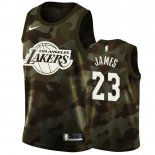 Maillot Los Angeles Lakers Nike NO.23 Lebron James Camouflage 2019 Pas Cher
