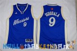 Maillot NBA Enfants 2015 Noël Golden State Warriors NO.9 Andre Iguodala Bleu Pas Cher