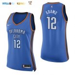 Maillot NBA Femme Oklahoma City Thunder NO.12 Steven Adams Bleu Icon Pas Cher