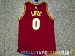 Maillot NBA Cleveland Cavaliers NO.0 Kevin Love 2015 2016 Rouge Pas Cher