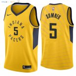 Maillot NBA Indiana Pacers NO.5 Edmond Sumner Jaune Statement 2018 Pas Cher