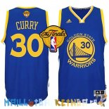 Maillot NBA Golden State Warriors Finales NO.30 Curry Bleu Pas Cher
