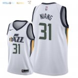 Maillot NBA Utah Jazz NO.31 Georges Niang Blanc Association 2018 Pas Cher