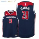 Maillot NBA Enfant Washington Wizards NO.28 Ian Mahinmi Marine Statement 2018 Pas Cher