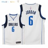 Maillot NBA Enfant Dallas Mavericks NO.6 DeAndre Jordan Blanc Association 2018 Pas Cher