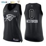 Maillot NBA Femme 2018 All Star NO.0 Russell Westbrook Noir Pas Cher