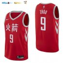 Maillot NBA Houston Rockets NO.9 Zhou Qi Nike Rouge Ville 2017-2018 Pas Cher