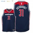 Maillot NBA Enfant Washington Wizards NO.31 Tomas Satoransky Marine Statement 2018 Pas Cher