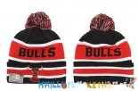 New Era Bonnet NBA 2016 Chicago Bulls Rouge Bande Pas Cher