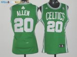 Maillot NBA Femme Boston Celtics NO.20 Ray Allen Vert Pas Cher