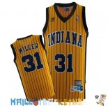Maillot NBA Indiana Pacers NO.31 Reggie Miller Jaune Bande Pas Cher