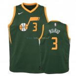 Maillot NBA Enfant Earned Edition Utah Jazz 2NO.3 Ricky Rubio Vert 2018-19 Pas Cher