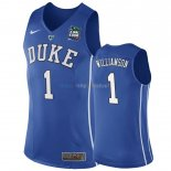 Maillot NCAA Duke NO.1 Zion Williamson Bleu 2019 Pas Cher